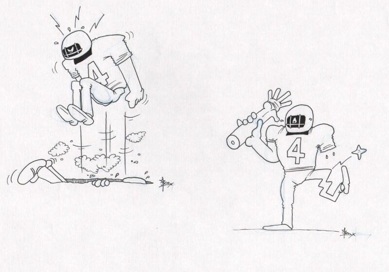 American footbal cartoon 2