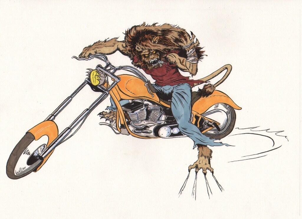 Biker Lion-coloured