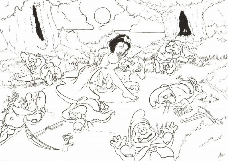 Kleurplaat Voor Volwassenen Sneeuwwitje Studio Nijssen
