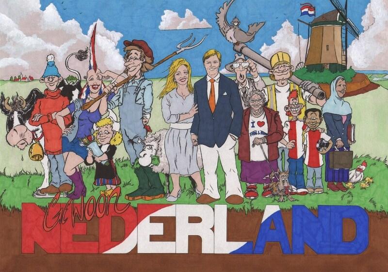 """Tekening voor """"Mijn droom voor Nederland""""wedstrijd"""