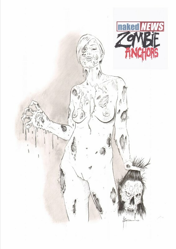 Naked News Zombie Anchors Katherine Curtis