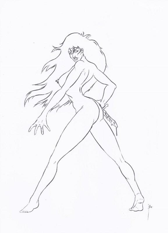 Nude Woman LineDrawing