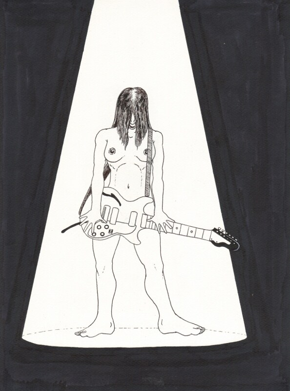 Nude with guitar 1