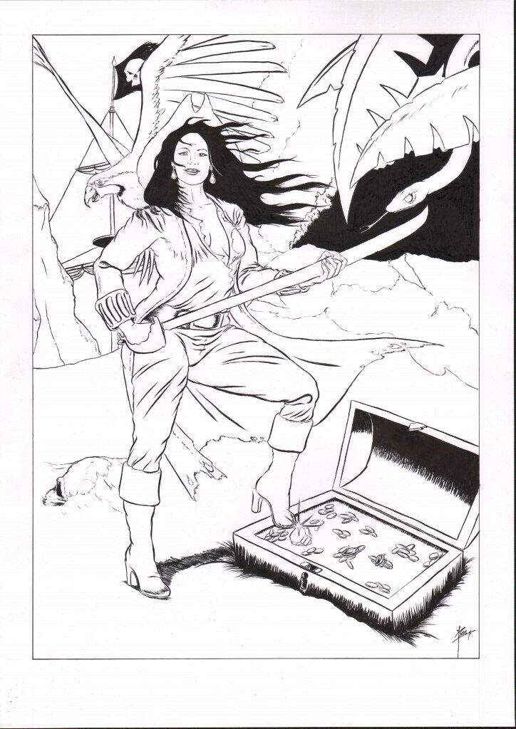 Fantasy portret van Naked News anchor Victoria Sinclair