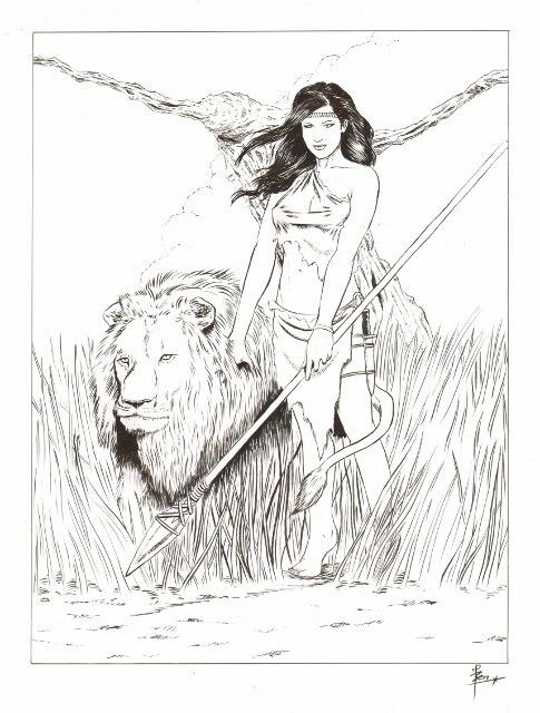 Fantasy portret van Naked News Anchor Rachelle Wild