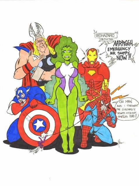 She-hulk cuts the cheese