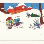 Kerstkaart voor boekhandel Mevrouw Kern/Leidse Strip Shop