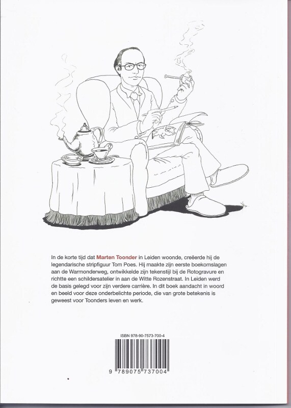 Backcover ontwerp voor Toonder in Leiden boek