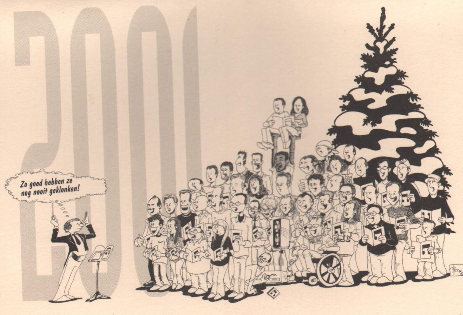 Kerstkaart voor toenmalige werkgever